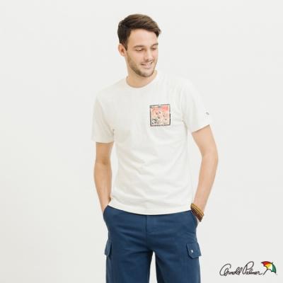 Arnold Palmer-男裝-風景方塊LOGOT恤-白