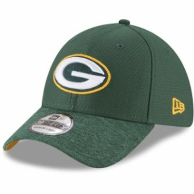 New Era ニュー エラ スポーツ用品  New Era Green Bay Packers Green Popped Shadow Team 39THIRTY Flex Hat