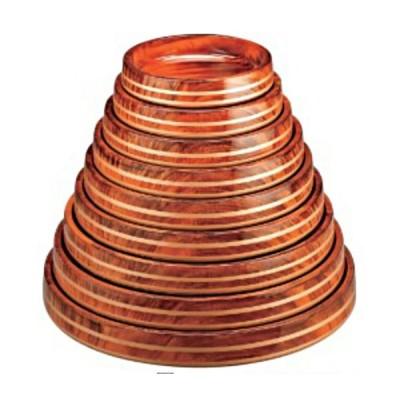 寿司桶 DX富士桶 紫檀金帯 7寸 1人用 ABS樹脂製 f5-952-51