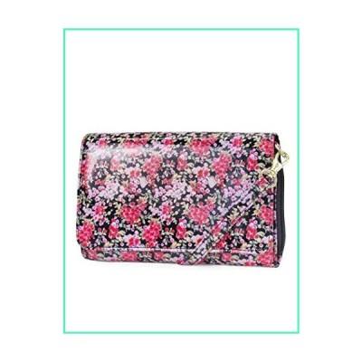 Mundi RFID Crossbody Bag For Women Anti Theft Travel Purse Handbag Wallet Vegan Leather (Delicate Petals)並行輸入品