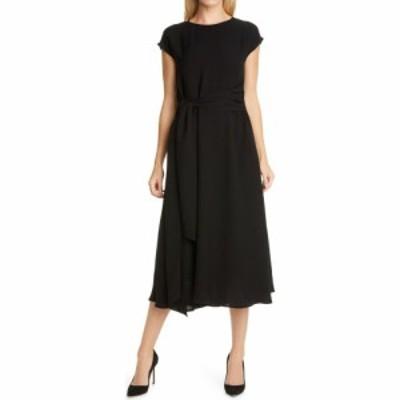 ヒューゴ ボス BOSS レディース ワンピース ミドル丈 ワンピース・ドレス Dacari Tie Front Midi Dress Black