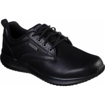 スケッチャーズ メンズ スリッポン・ローファー シューズ Men's Skechers Delson Antigo Oxford Black/Black