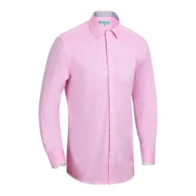 ミオマリオ シャツ トップス メンズ Men's Slim-Fit Cotton Dress Shirt Pink