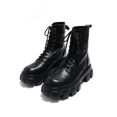 ブーツ 厚底ミリタリーブーツ
