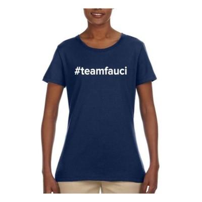 レディース 衣類 トップス Team Fauci 2020 Dr. Fauci Dr Anthony Fauci Doctor | Womens Pop Culture Graphic T-Shirt Navy Small