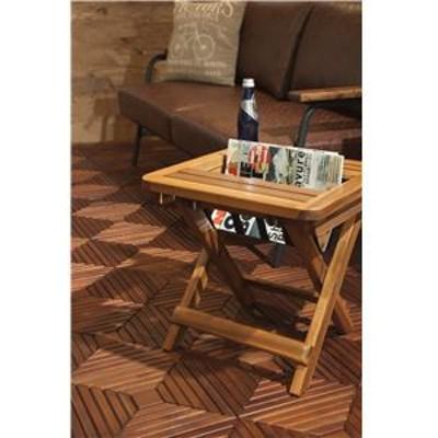 マガジンラック 【バレル】 折りたたみ式 木製 (天然木) VET-102