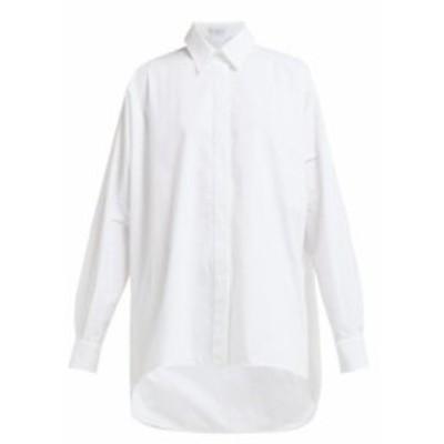 レイ Raey レディース ブラウス・シャツ トップス Batwing-sleeve cotton shirt white