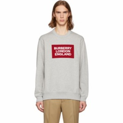 バーバリー Burberry メンズ スウェット・トレーナー トップス grey fawson sweatshirt