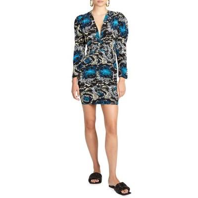 エーエルシー レディース ワンピース トップス Roxy Ruched Puff-Sleeve Dress