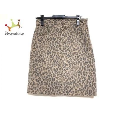 クロス&クロス Cloth&Cross スカート レディース ブラウン×黒×ダークブラウン 豹柄       スペシャル特価 20200531