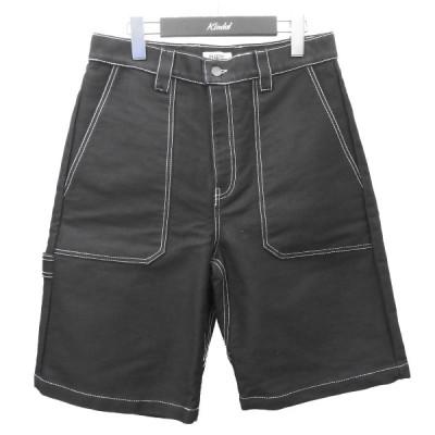 【5月11日値下】PHIPPS コントラストステッチデザインペインターショーツ ブラック サイズ:32 (渋谷店)