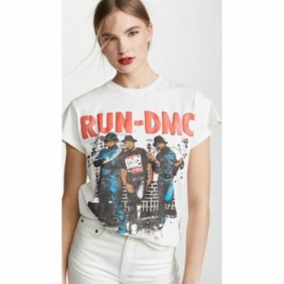 メイド ウォーン MADEWORN ROCK レディース Tシャツ トップス Run DMC T-Shirt Off White