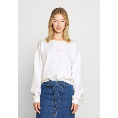 ロキシー パーカー・スウェットシャツ レディース アウター SUNSET CREW - Sweatshirt - snow white