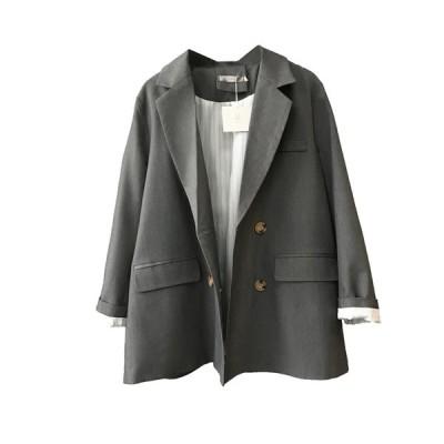 スーツ ジャケット レディース コート 2色 スプリングコート 春コート チェック柄 カジュアル  長袖 春秋 nsxz12