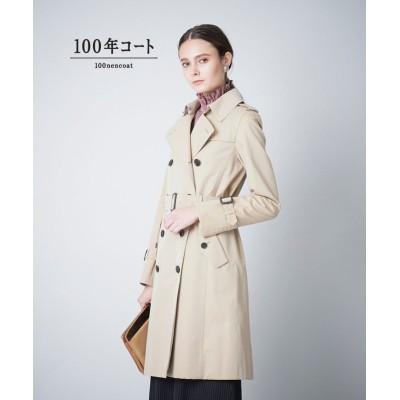 (SANYO COAT/サンヨーコート)<100年コート>ダブルトレンチコート(三陽格子)/レディース ベージュ