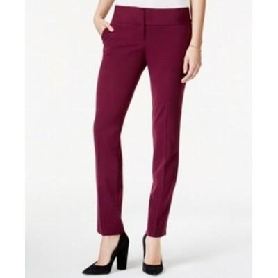 Rise  ファッション パンツ BCX NEW Purple Size 0 Junior Stretch Straight Leg Mid Rise Trousers