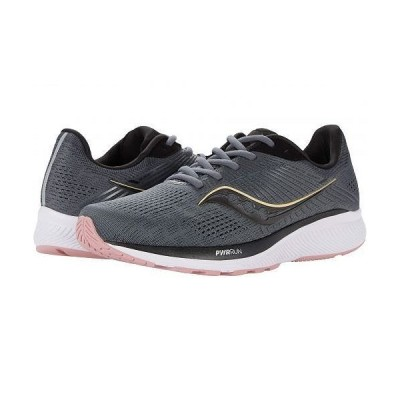 Saucony サッカニー レディース 女性用 シューズ 靴 スニーカー 運動靴 Guide 14 - Charcoal/Rose