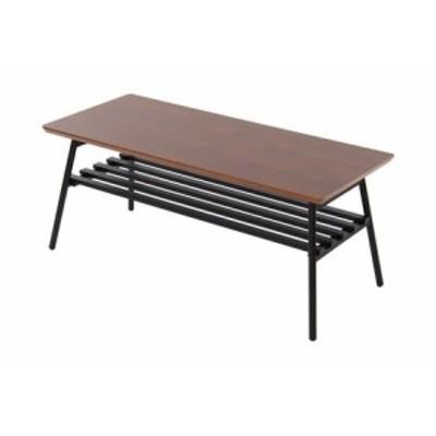 高さ39cmの折りたたみ脚:センターテーブル:ウオールナット突板の天板:BR色 || 家具 ローテーブル