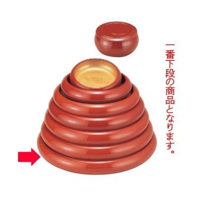 寿司 寿冠鉢色紙金箔外朱尺3寸 [41φ x 6.8cm] ABS樹脂 (7-458-3) 料亭 旅館 和食器 飲食店 業務用