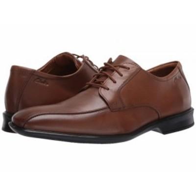 Clarks クラークス メンズ 男性用 シューズ 靴 オックスフォード 紳士靴 通勤靴 Bensley Run Dark Tan Leather【送料無料】