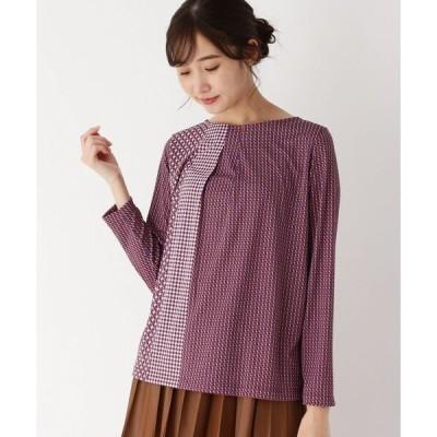 tシャツ Tシャツ 幾何学柄ブロッキングプルオーバー