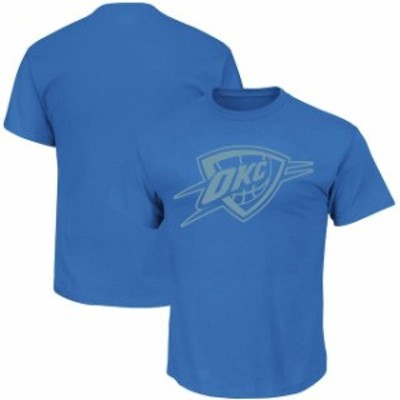 Majestic マジェスティック スポーツ用品  Majestic Oklahoma City Thunder Blue Reflective Tek Patch T-Shirt