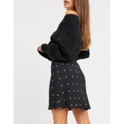 エイソス レディース スカート ボトムス ASOS DESIGN mini bias slip skirt in dot print Multi