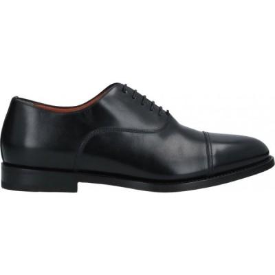 サントーニ SANTONI メンズ シューズ・靴 laced shoes Black