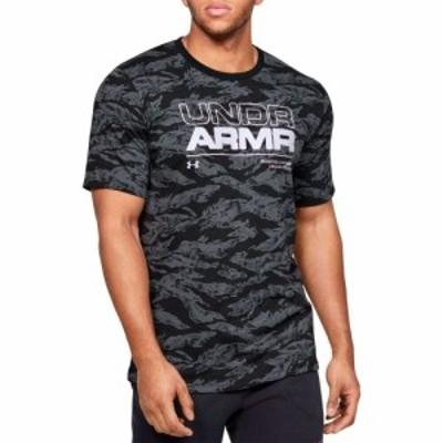 アンダーアーマー Under Armour メンズ Tシャツ トップス Wordmark T-Shirt (Regular and Big and Tall) Black/White