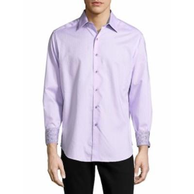 ロバートグラハム Men Clothing Cotton Button-Down Shirt
