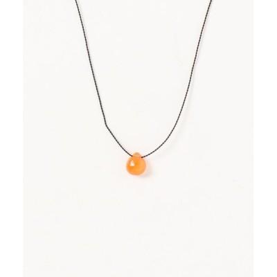 TONE / 【V&SSS】オレンジカルセドニー& sv925 necklace WOMEN アクセサリー > ネックレス