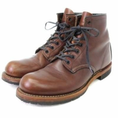 【中古】レッドウィング REDWING BECKMAN ベックマン ブーツ 9016 シガー フェザーストーン 茶 25 靴 ■SM メンズ