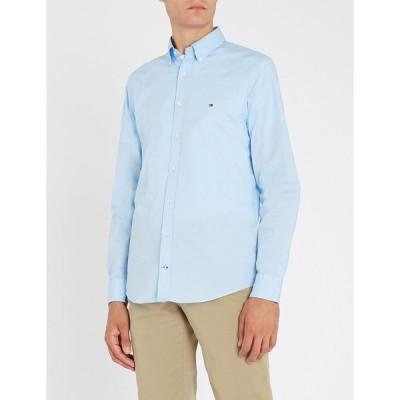 トミー ヒルフィガー TOMMY HILFIGER メンズ シャツ トップス Slim-fit stretch-cotton shirt Shirt blue