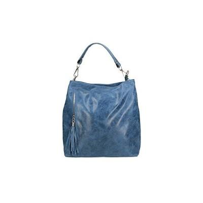 Chicca Borse 80054, Women's Top-Handle Bag, Blu (Blu Jeans), 34x29x14 cm (W x H L) 並行輸入品