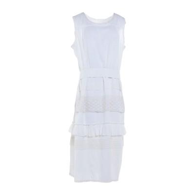 LE COEUR TWINSET 7分丈ワンピース・ドレス ホワイト XL コットン 100% / ナイロン 7分丈ワンピース・ドレス