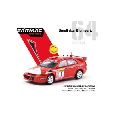 ※予約受付中※【TARMAC WORKS】1/64 Mitsubishi Lancer Evolution VI Monte Carlo Rally 2000 Winner ※2020年11月発売予定