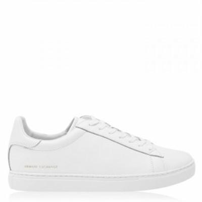 アルマーニ Armani Exchange メンズ スニーカー シューズ・靴 Clean Trainers White