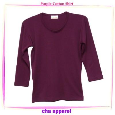 Purple Cotton Shirt 001