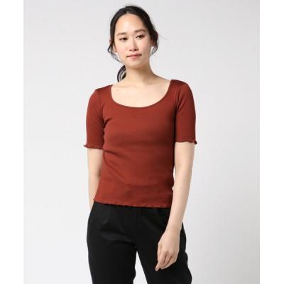 tシャツ Tシャツ テレコ2WAYUネックプルオーバー
