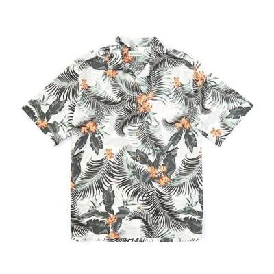 カリビアン メンズ シャツ トップス Leaves Print Short-Sleeve Woven Shirt