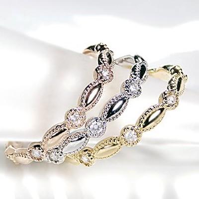 K18WG/YG/PG 「0.10ct」 ダイヤモンド リング ジュエリー 指輪 18金 ゴールド ミル打ち ダイヤモンドリング