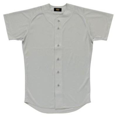 ゼット 野球 ソフト ユニフォームシャツ 16SS シルバー ヤキュウユニホーム(bu1071-1300)