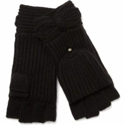 ケイト スペード KATE SPADE NEW YORK レディース 手袋・グローブ pointy bow pop top mittens Black