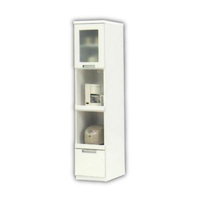 隙間収納 幅40 高さ180 すき間 スリム ガラス扉 引き出し 食器棚 キッチン収納 すきま家具 省スペース 木製 収納 キッチン