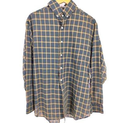 タウンクラフト TOWN CRAFT 60S TAPERED PENN-PREST ボタンダウンチェックシャツ 3点留め  中古 古着 210625