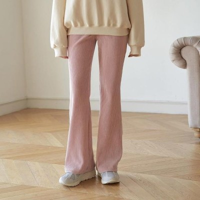 TWEE レディース パンツ Corduroy Flared banding pants