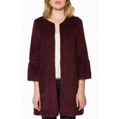 Willow & Clay ウィロー&クレイ ファッション 衣類 Willow & Clay NEW Red Womens Size Small S Chunky Knit Open Jacket