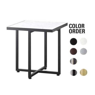 サイドテーブル ホワイト人口大理石 40×40×45cm 業務用店舗家具 tfg346-1h450