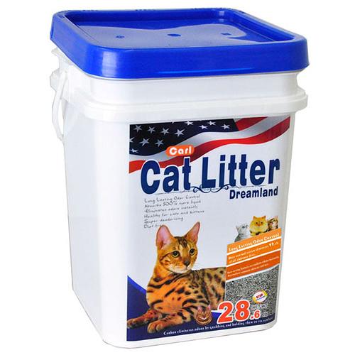 【寵物王國】【免運費】CARL卡爾-天然活性碳多功能貓砂(無香/無塵/低敏)13kg