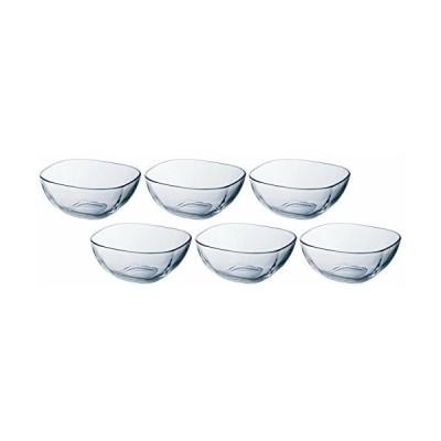 アデリア ガラス ボウル クリア 最大11×11×高4.8cm プレーン スクエア 6個セット 日本製 P-6285